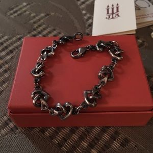James Avery Sterling Silver Heart Knot Bracelet